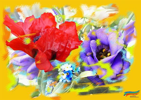 Mohn und Malerei (© Dorisa-Karten)