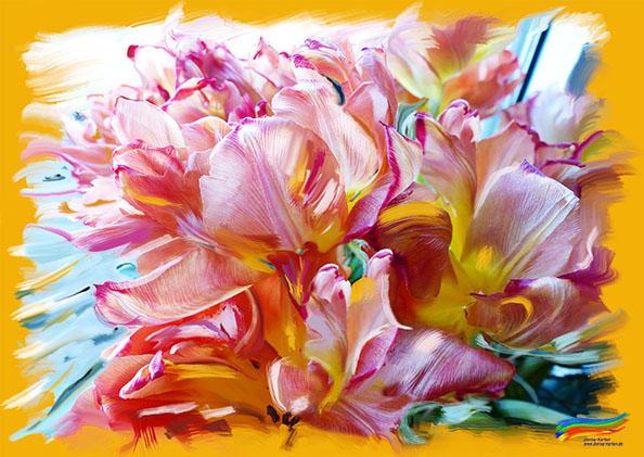 Wilde Tulpen (© Dorisa-Karten)